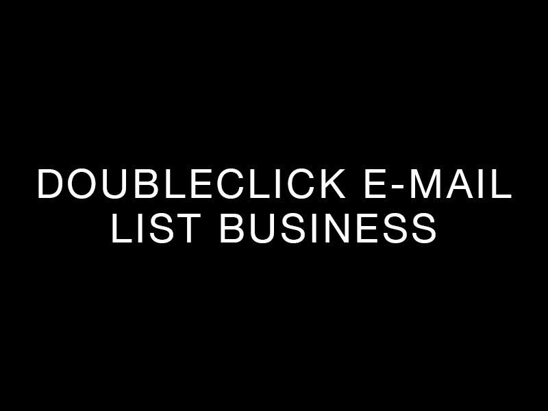 DoubleClick e-mail list business