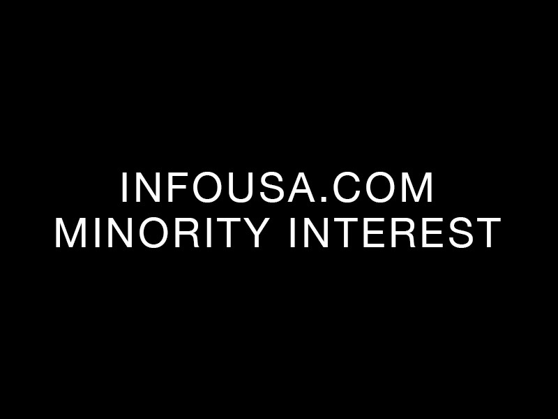 infoUSA.com minority interest
